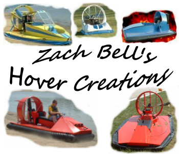 Zach Bell's Hovercraft Creations website banner